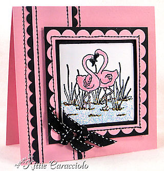 KC Faux Stitch Pink BLack Neutral