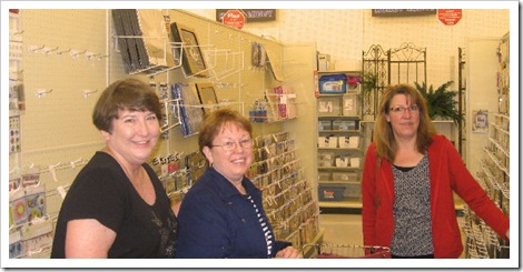 Bev, Joan, Shelly Shopping