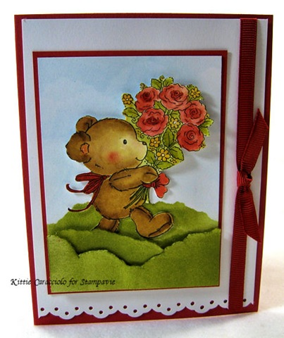 KC Penny Johnson Bear Flowers