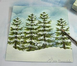 10 Snow Embossed Trees