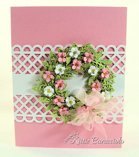 KC Martha Stewart Wreath  Pink and White
