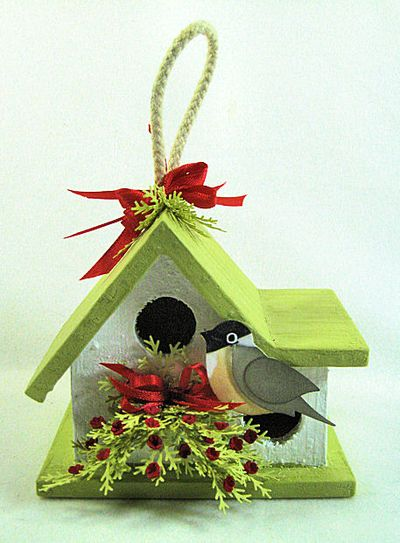 KC Wood Birdhouse 2 front