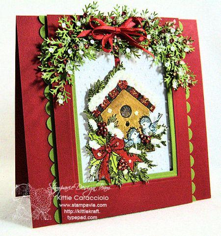 KC Tina Wenke Winter Birdhouse 2 left
