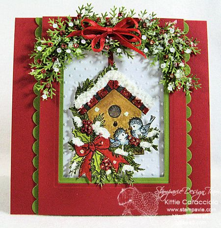 KC Tina WEnke Winter Birdhouse 2 center