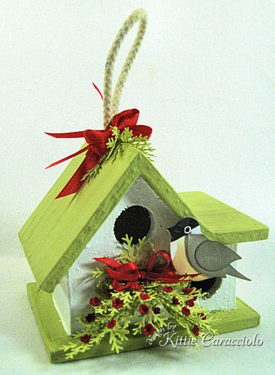 KC Wood Birdhouse 2 left front