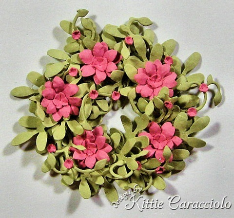 Garden Flowers And Foliage Wreath Tutorial Kittiekraft