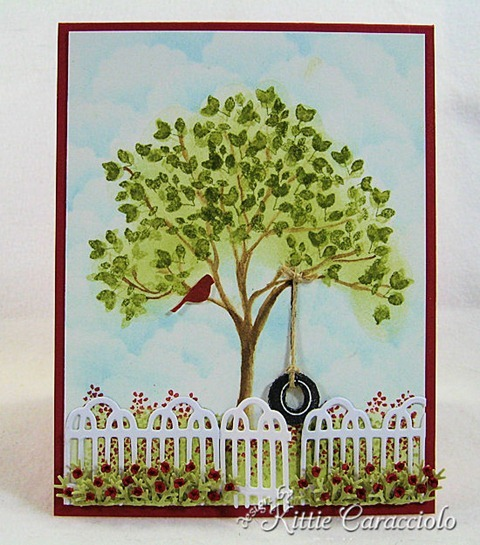 KC Impression Obsession Tree Stamps 1 center