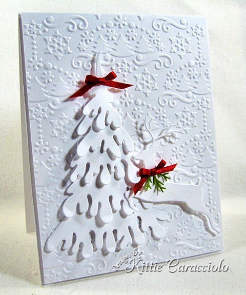 KC Dee's Large Snow Covered Tree 2 left