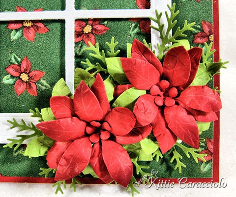 KC Poppy STamps Blooming Poinsettia 3 center close