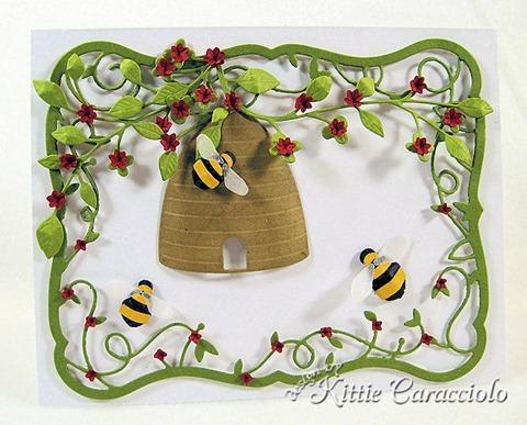 KC Memory Box Honey Bee Skep 1 center