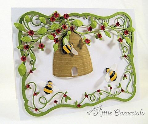KC Memory Box Honey Bee Skep 1 left