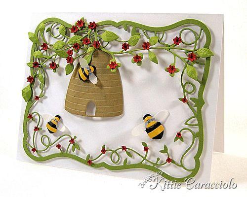 KC Memory Box Honey Bee Skep 1 right