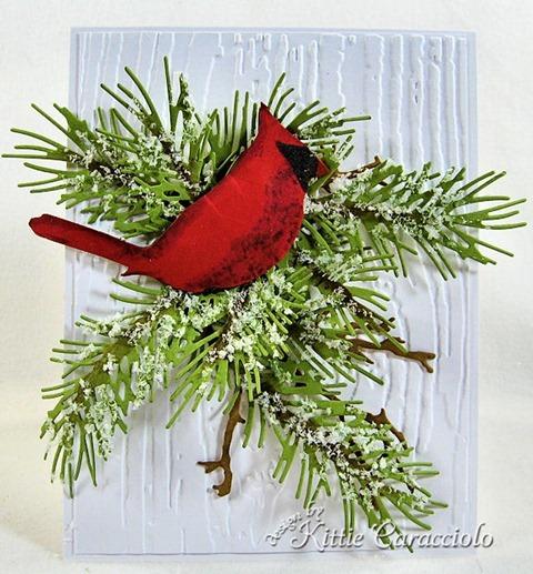 KC Sizzix Christmas Cardinal 1 center