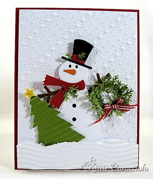 snowman ready for christmas kittiekraft