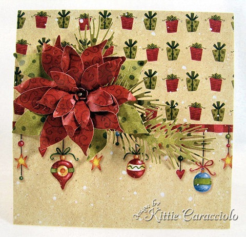 KC Poppy Stamps Blooming Poinsettia 2 center