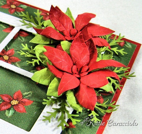 KC Poppy Stamps Blooming Poinsettia 3 side close