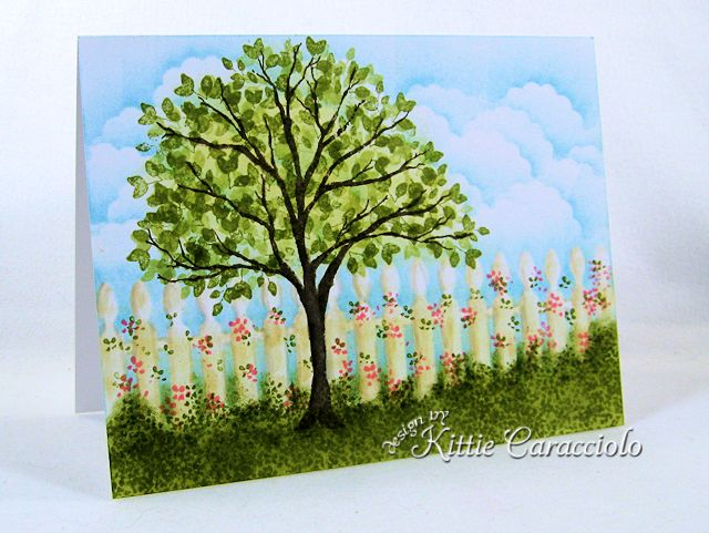 KC Impression Obsession Tree Stamps 4 left