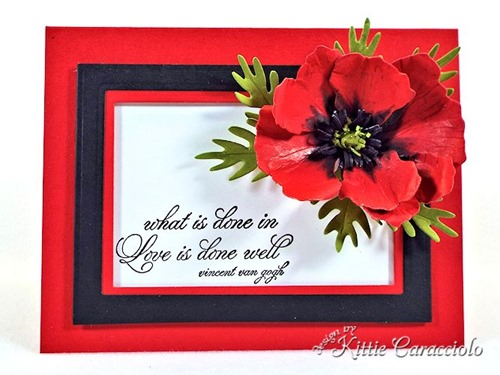 KC Sizzix Poppy center