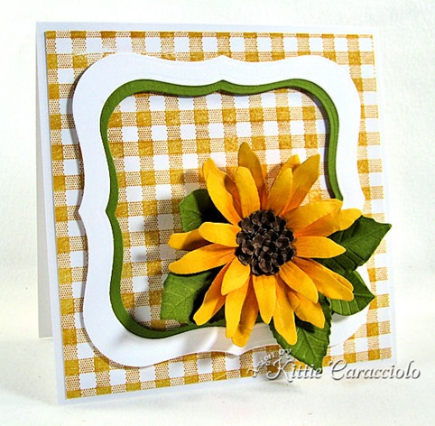 KC Sizzix Flower Sunflower 1 left
