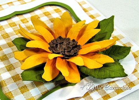 KC Sizzix Flower Sunflower 1 side