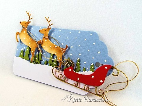 KC Savvy Stamps Deer and Sleigh 1 right