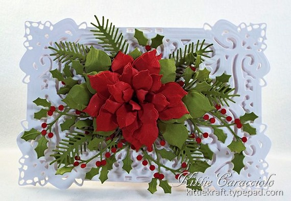 KC Creative Expressions Festive Collection Classic Poinsettia 1 center