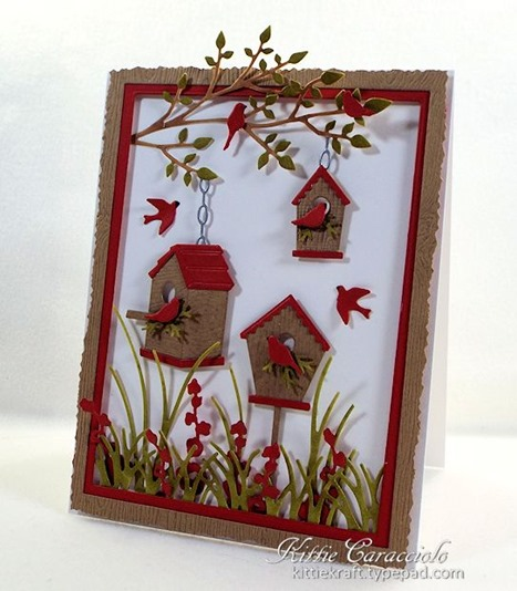KC Memory Box Birdhouse Village 1 right