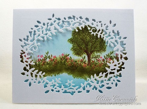 KC Poppy Stamps Leafy Frame 1 center