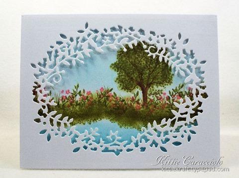 KC Poppy Stamps Leafy Frame 1 center