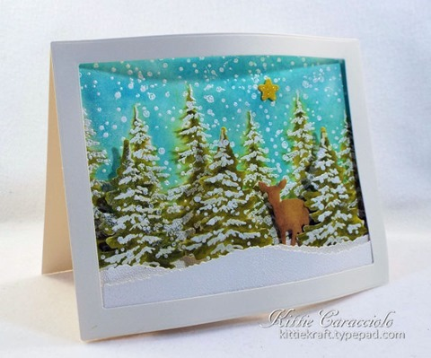 KC Hero Arts Color Layering Snowy Tree 2 left