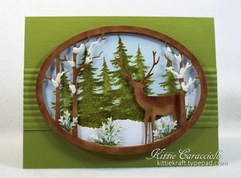 KC Memory Box Standing Deer Oval Frame 1 center