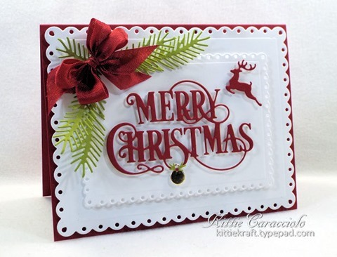 KC Impression Obsession Merry Christmas Flourish 1left