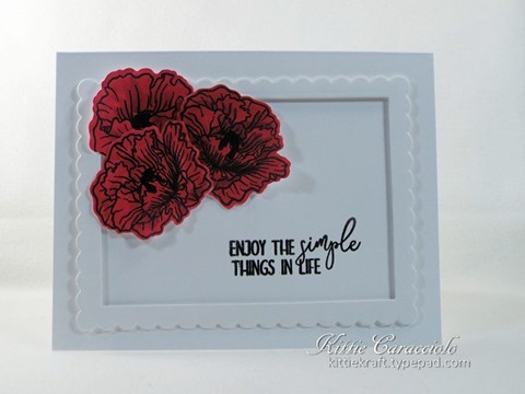 KC Altenew Poppy Fields Stamp and Die 1 center