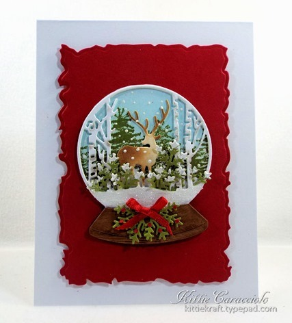 KC Impression Obsession Deer Snowglobe 1 center