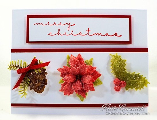 KC Tattered Lace Christmas Florals 1 center