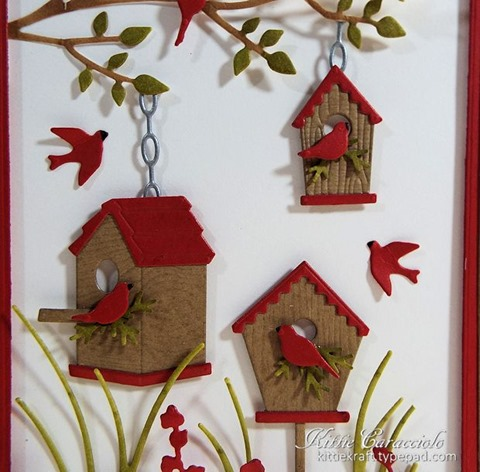 KC Memory Box Birdhouse Village 1 close