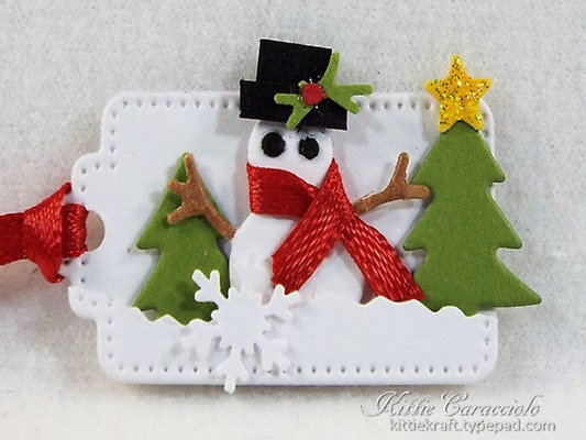 KC Savvy Woodland MEadow Tags 5 snowman