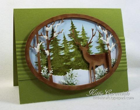 KC Memory Box Standing Deer Oval Frame 1 left