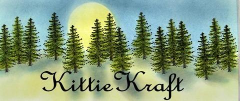 Kittie Kits Moose Tree Banner with script