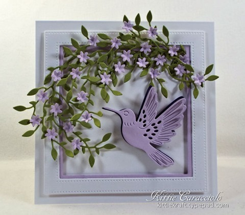 KC Hero Arts Paper Layering Hummingbird Pair 1 center