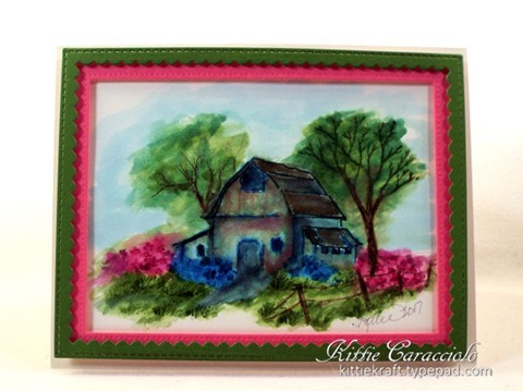 KC Art Impression Old Barn Mini Set 1 center
