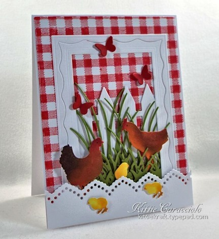 KC Impression Obsession Roosters and Chickens 2 left