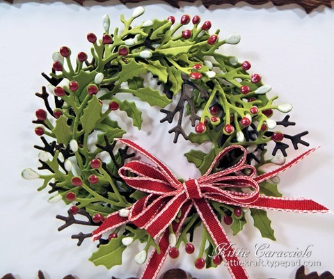 KC Penny Black Layered Christmas Wreath 1 close