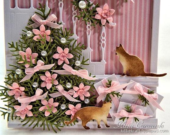 KC Poppy Stamps Elegant Stair Frame 1 tree