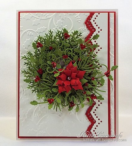 KC Impression Obsession Small Poinsettia Set 2 center