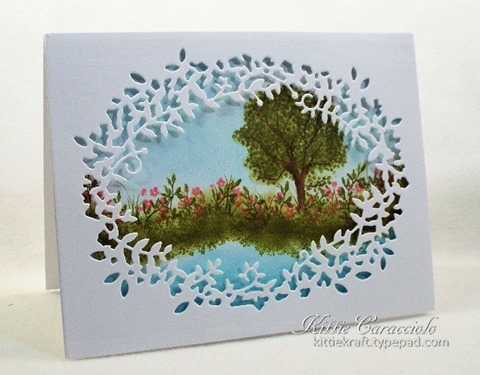 KC Poppy Stamps Leafy Frame 1 left