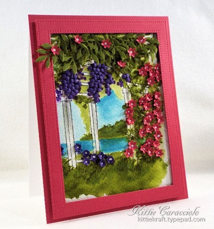 KC Art Impressions Watercolor Arbor 1 left