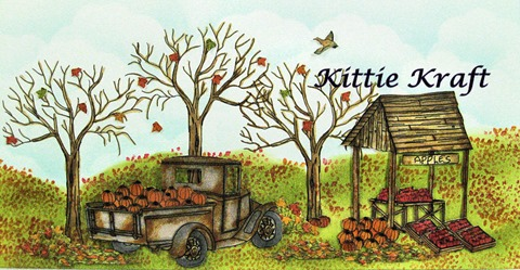 Truck Tree Fall Banner with Kittie Kraft Script