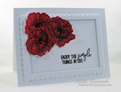 KC Altenew Poppy Fields Stamp and Die 2. left