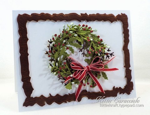 KC Penny Black Layered Christmas Wreath 1 left